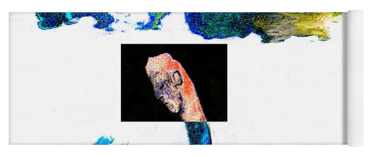 Horseman Yoga Mat featuring the digital art Horseman by Artist Dot