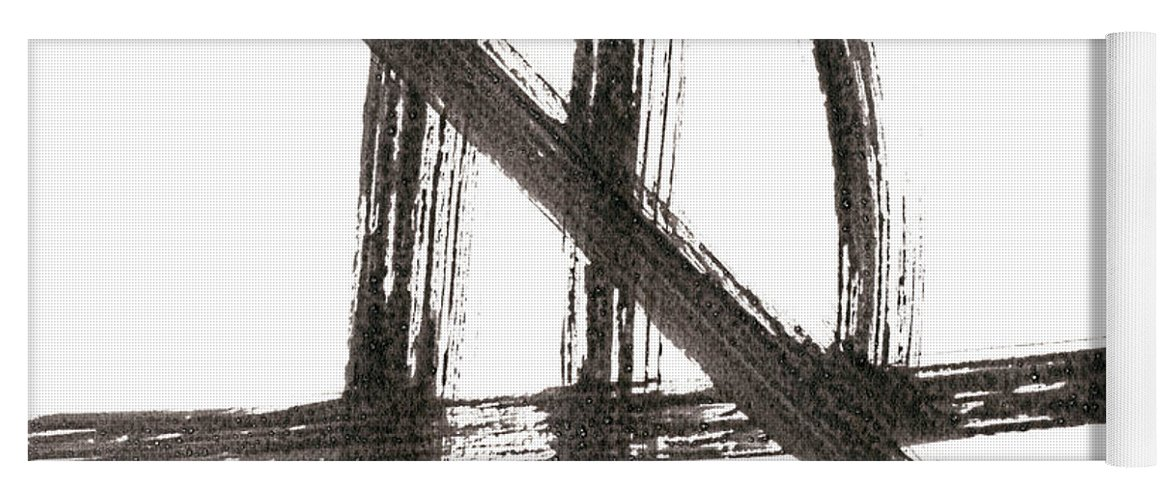 Abstract Yoga Mat featuring the painting Linear Expression Viii by J. Holland