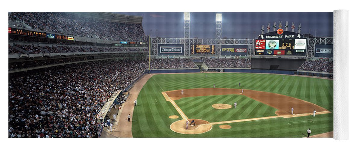 Photography Yoga Mat featuring the photograph Usa, Illinois, Chicago, White Sox by Panoramic Images