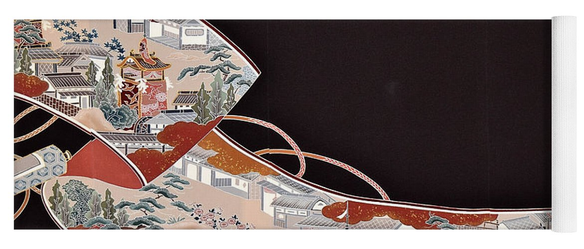 Yoga Mat featuring the digital art Spirit of Japan T71 by Miho Kanamori