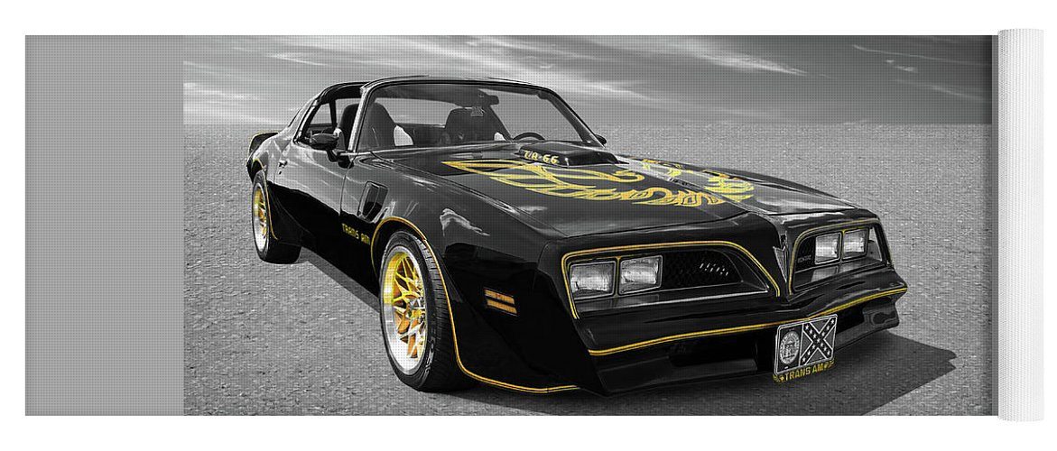 1976 Trans Am Black And Gold Yoga Mat For Sale By Gill Billington