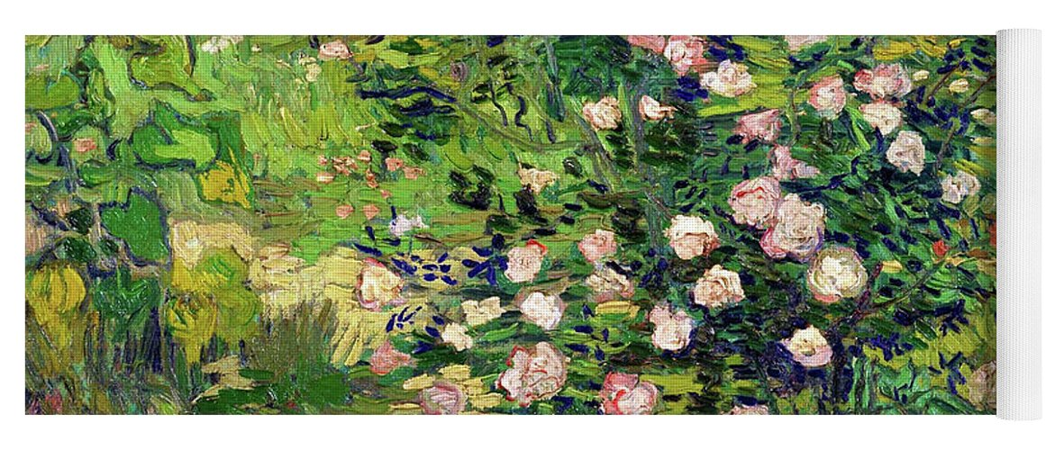 Roses Yoga Mat featuring the painting Roses - Digital Remastered Edition by Vincent van Gogh