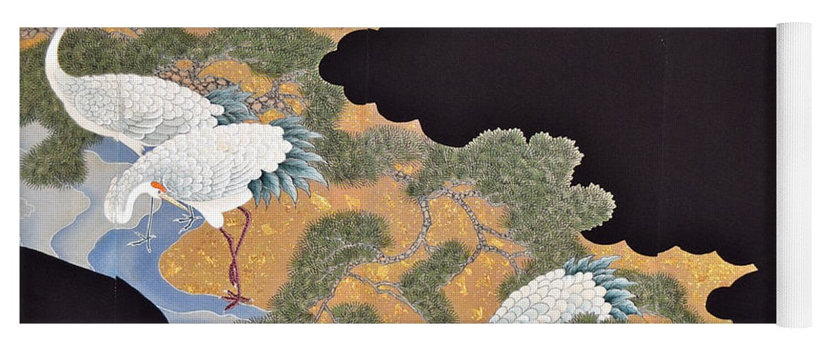 Yoga Mat featuring the tapestry - textile Spirit of Japan T57 by Miho Kanamori