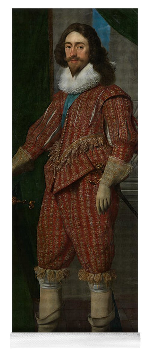 17th Century Art Yoga Mat featuring the painting Charles I, King Of England by Daniel Mijtens