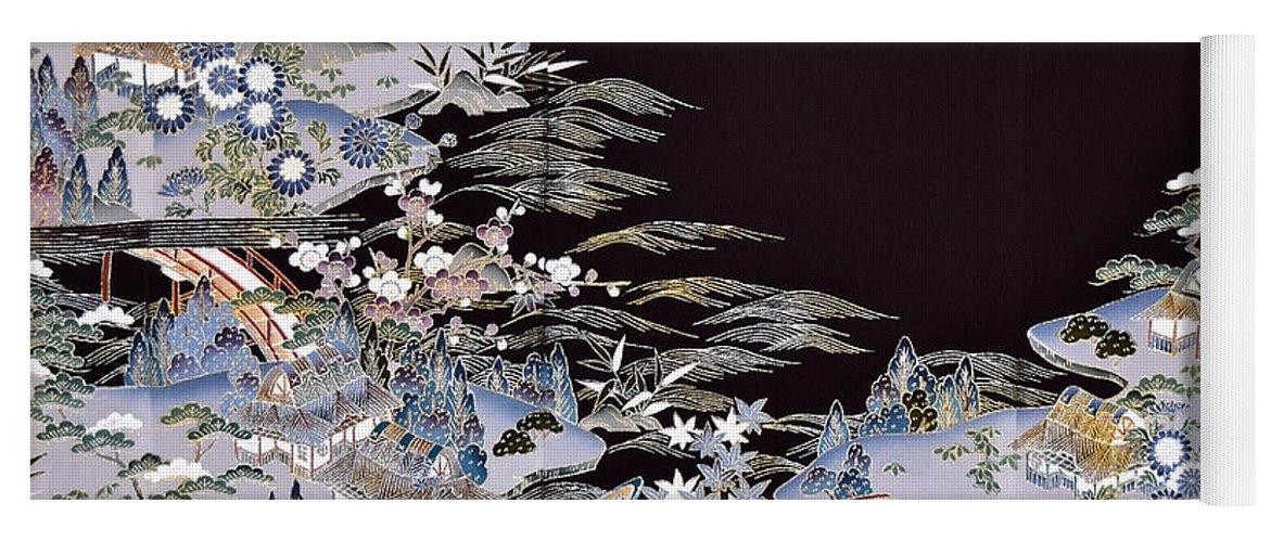 Yoga Mat featuring the digital art Spirit of Japan T53 by Miho Kanamori