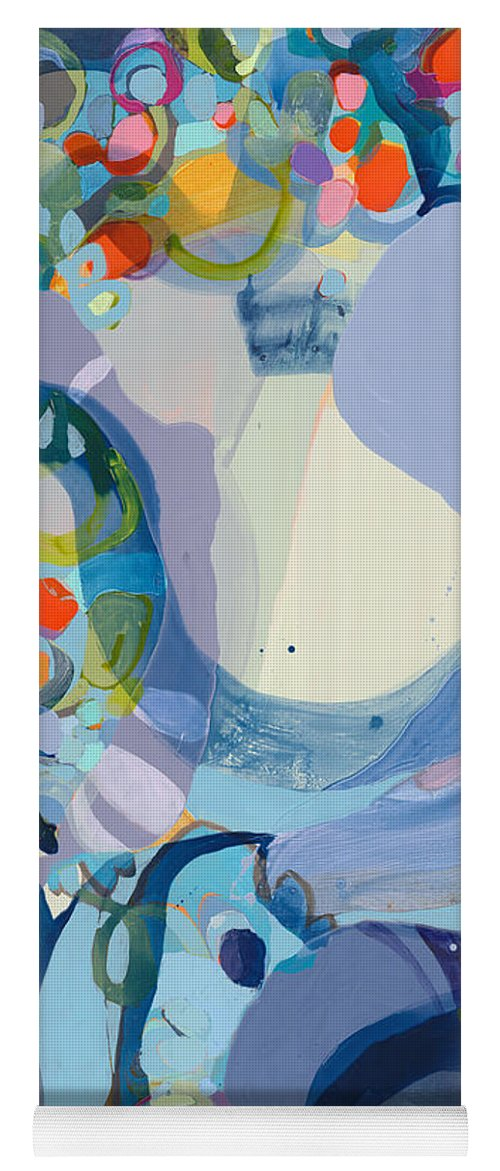 Abstract Yoga Mat featuring the painting 70 Degrees by Claire Desjardins