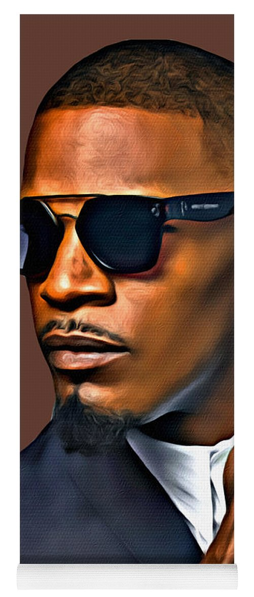 Jamie Foxx Yoga Mat featuring the photograph A Foxx Indeed by Karen Showell