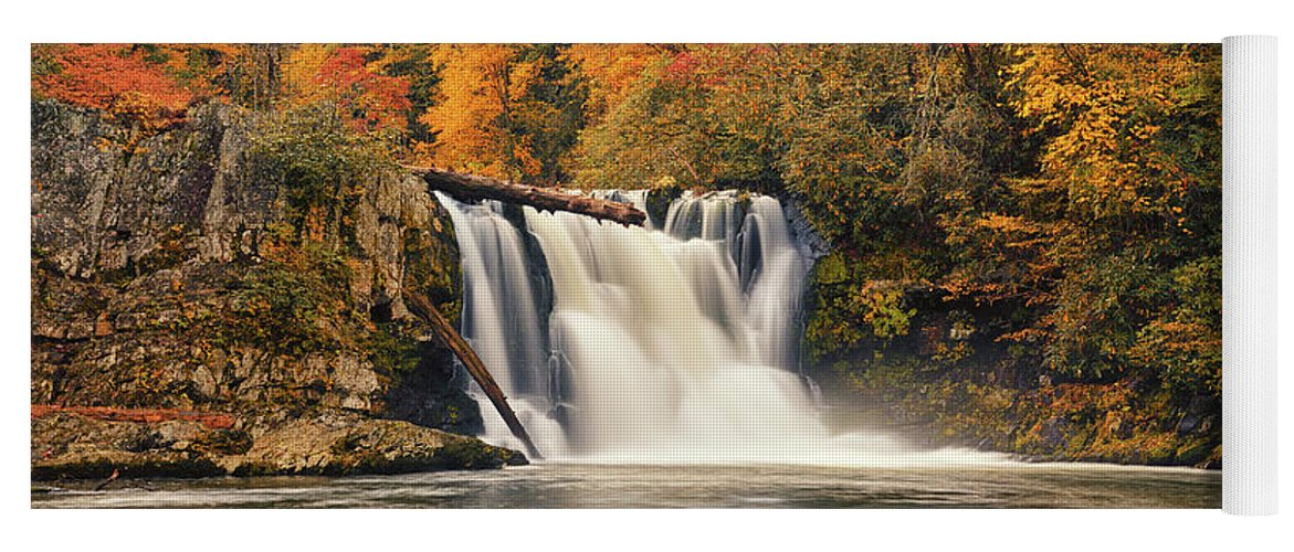 Abrams Falls Yoga Mat featuring the photograph Abrams Falls Autumn by Greg Norrell