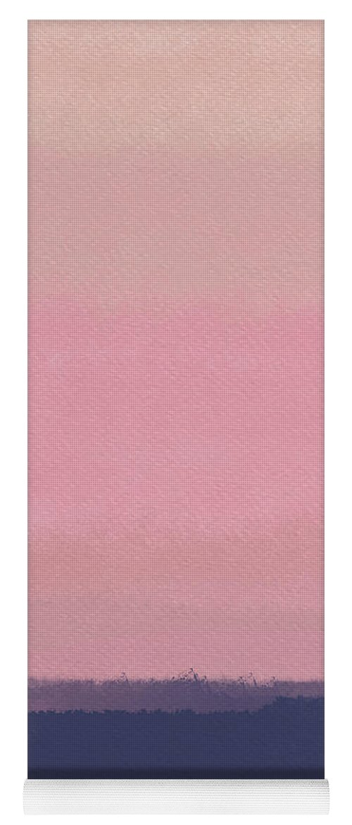 Abstract Blush Pink Sunset Yoga Mat For Sale By Naxart Studio