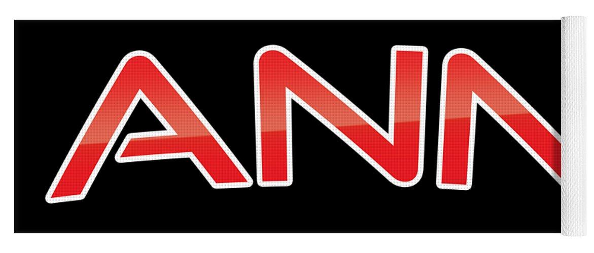 Ann Yoga Mat featuring the digital art Ann by TintoDesigns