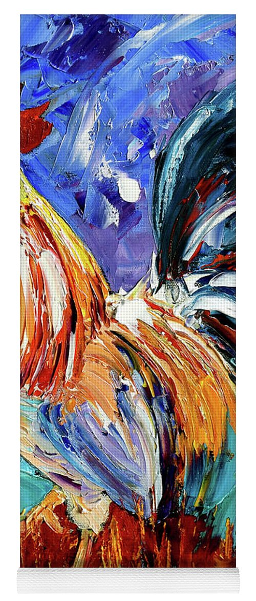 Rooster Yoga Mat featuring the painting Another Day by Debra Hurd