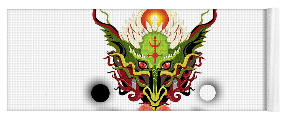 Dragon Yoga Mat featuring the digital art Antimony by Jesse Chaidez