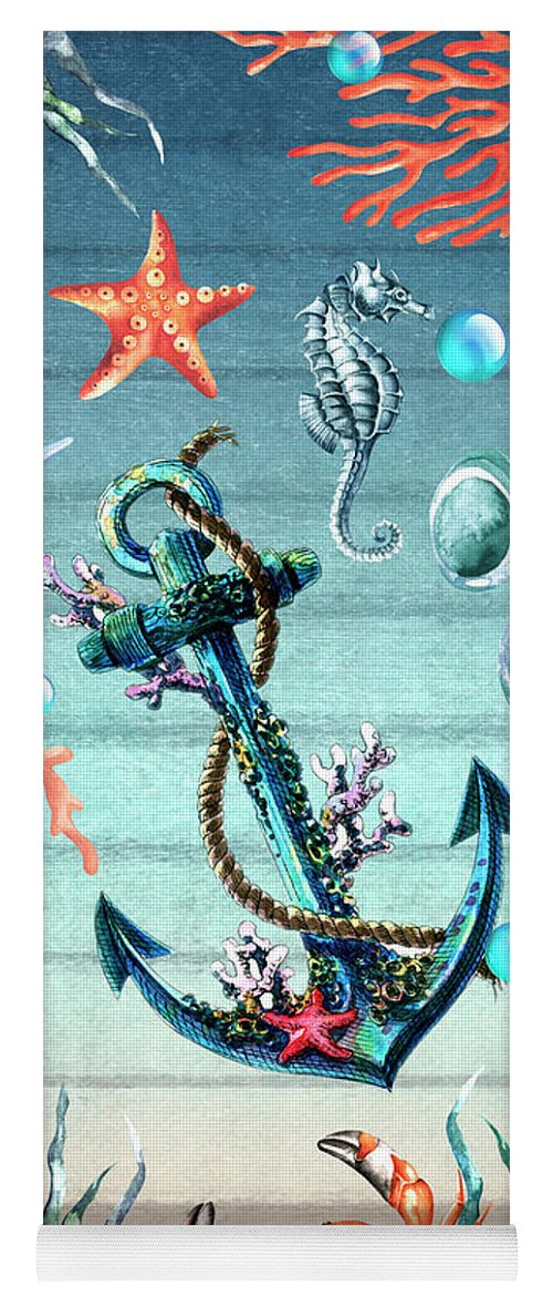 Sea Life Yoga Mat featuring the digital art Tropical Island by Mark Ashkenazi