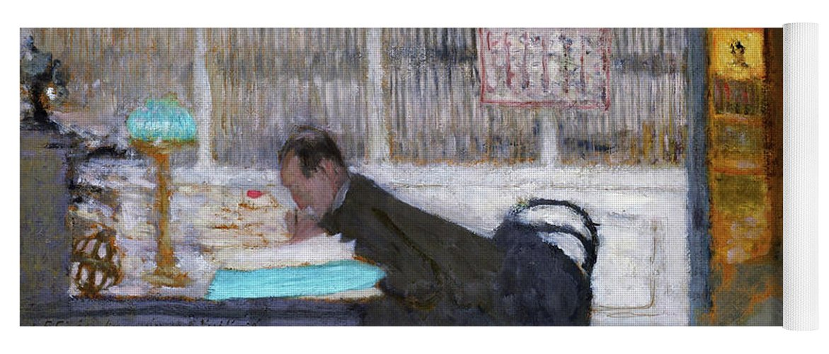 At The Revue Blanche Yoga Mat featuring the painting At The Revue Blanche - Digital Remastered Edition by Edouard Vuillard