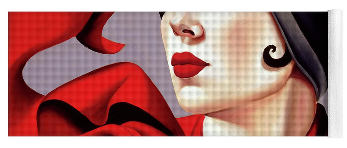 30s Yoga Mat featuring the painting Autumn Zephyr by Catherine Abel