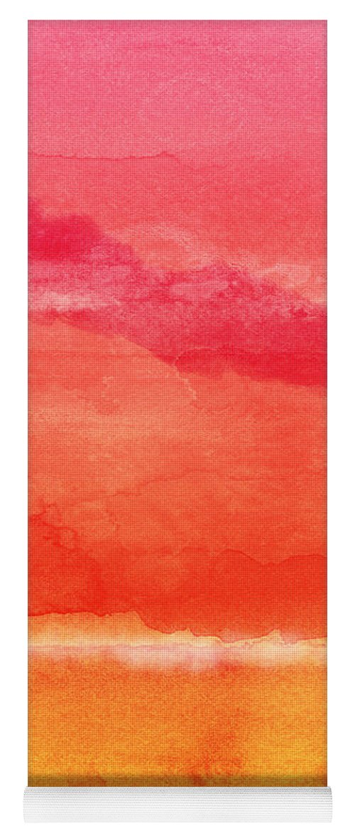 Abstract Yoga Mat featuring the painting Awakened 5 - Art by Linda Woods by Linda Woods