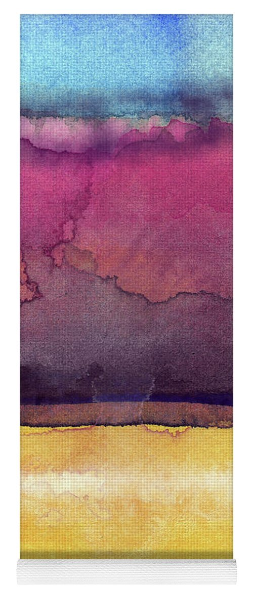 Abstract Yoga Mat featuring the painting Awakened 6- Art by Linda Woods by Linda Woods