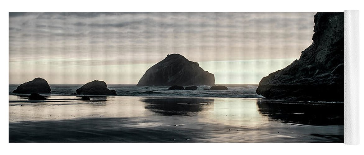 Bandon Beach Yoga Mat featuring the photograph Bandon Beach Sunset 1 by Jim Thompson