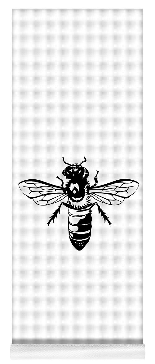 Bee Yoga Mat featuring the digital art Bee Nice by Jesse Chaidez