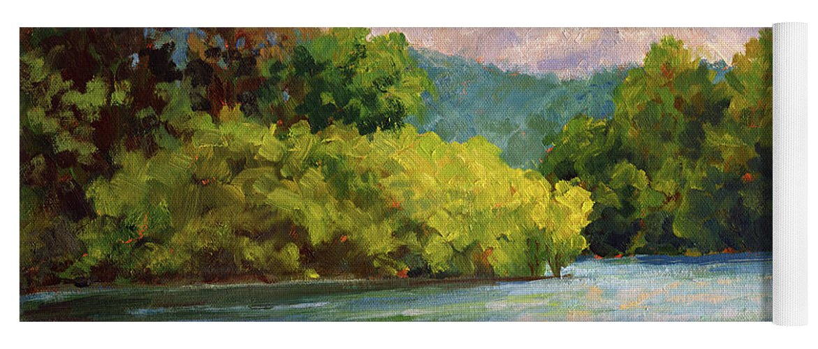 Impressionism Yoga Mat featuring the painting Birch Point by Keith Burgess