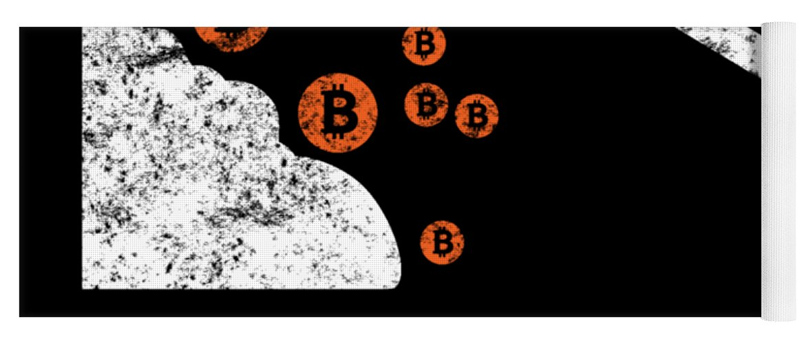 Bitcoin-shirt Yoga Mat featuring the digital art Bitcoin Mining Goods by Beth Scannell