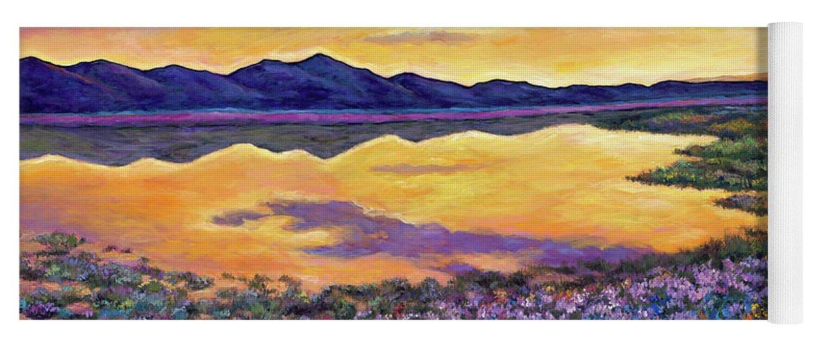 Southwestern Landscape Yoga Mat featuring the painting Bluebonnet Rhapsody by Johnathan Harris