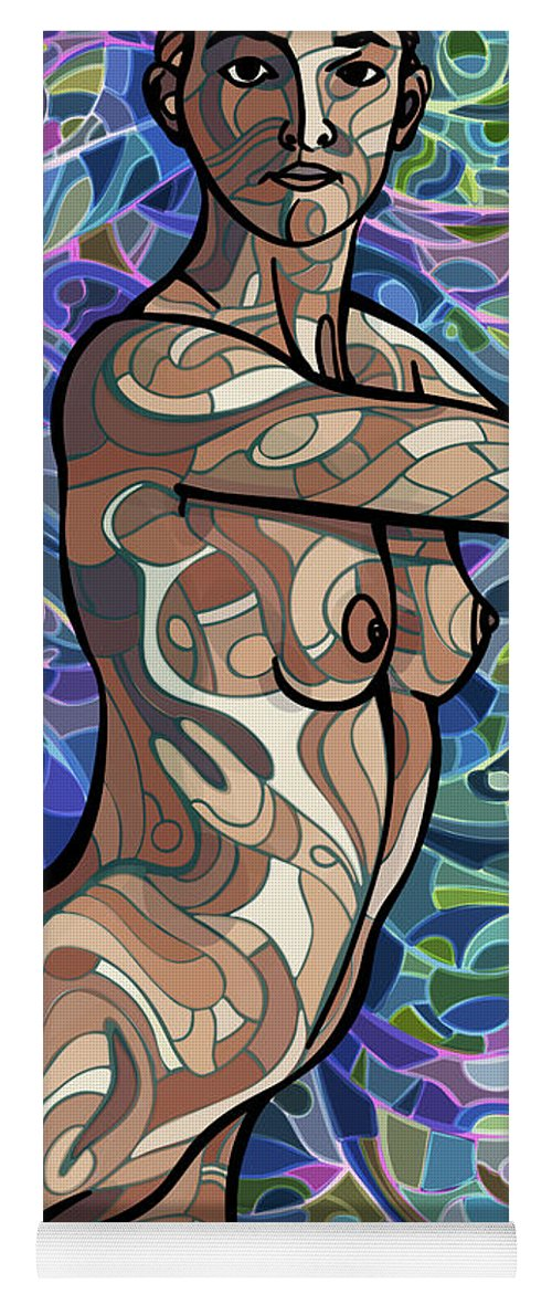 Figurative Yoga Mat featuring the digital art Body Of Thought #4 by James Fryer