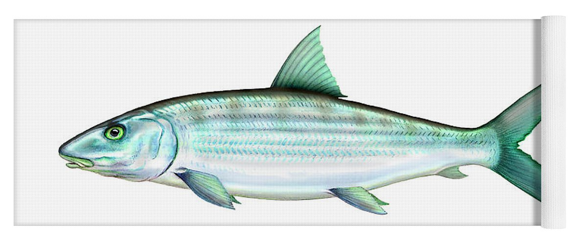 Charles Yoga Mat featuring the painting Bonefish by Charles Harden