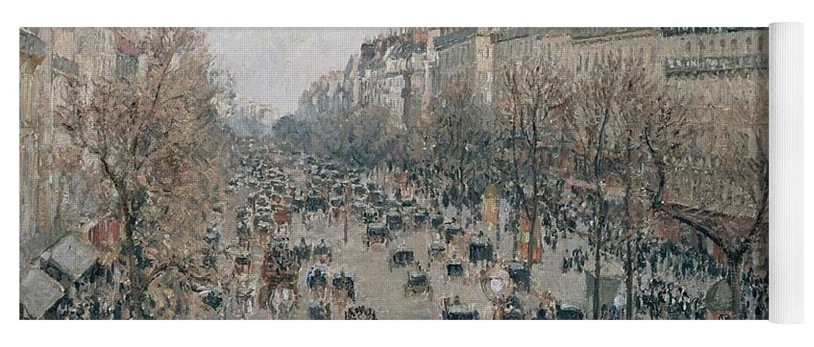 Camille Pissarro Yoga Mat featuring the painting Boulevard Montmartre - Afternoon, Sunlight, 1897 by Camille Pissarro