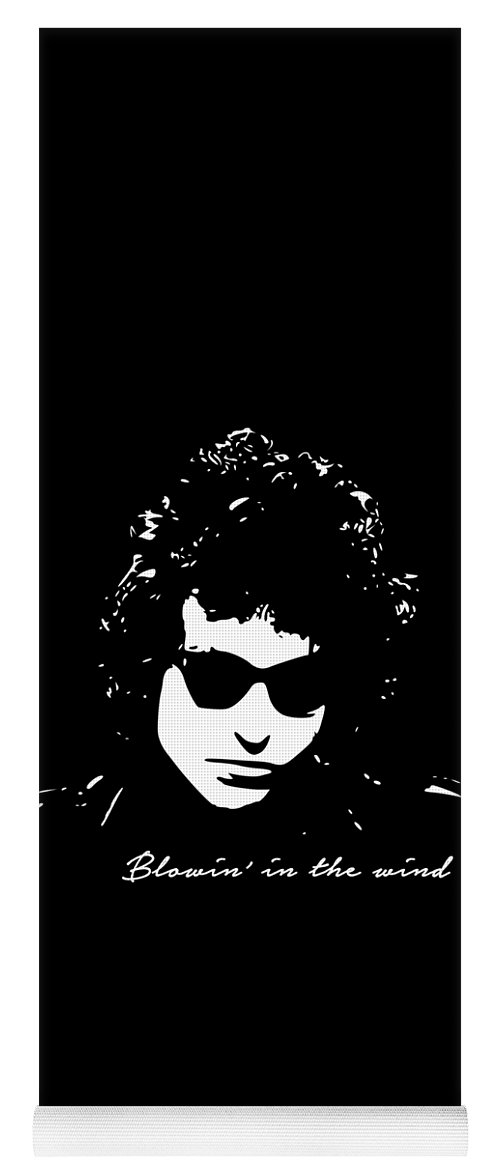 Bob Dylan Yoga Mat featuring the digital art Bowin' In The Wind by Filip Schpindel