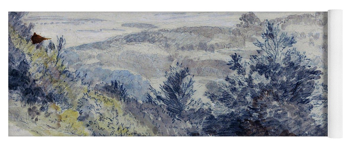 Samuel Palmer Yoga Mat featuring the painting Boxhill - Digital Remastered Edition by Samuel Palmer