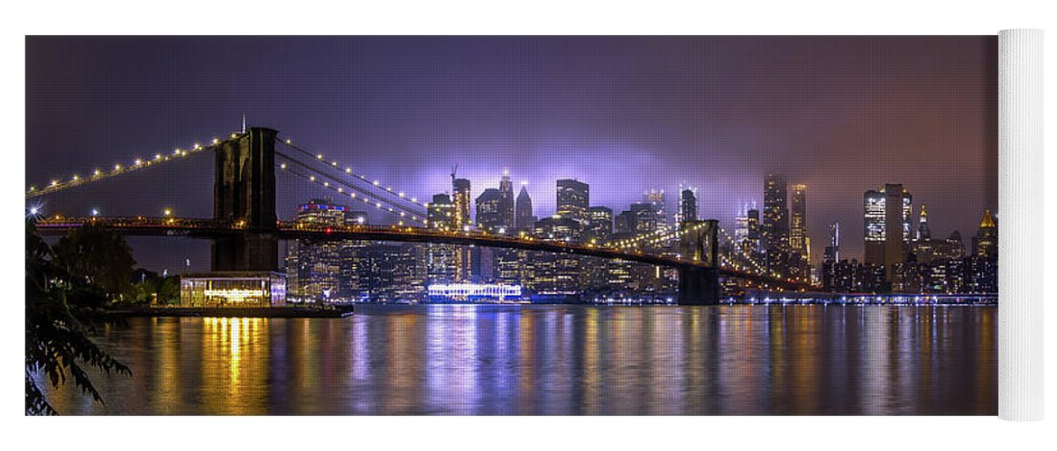America Yoga Mat featuring the photograph Bright Lights Of New York II by Nicklas Gustafsson