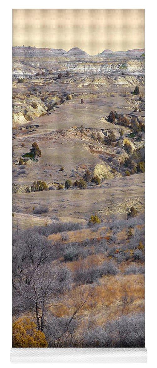 North Dakota Yoga Mat featuring the photograph Burning Coal Vein April Reverie by Cris Fulton