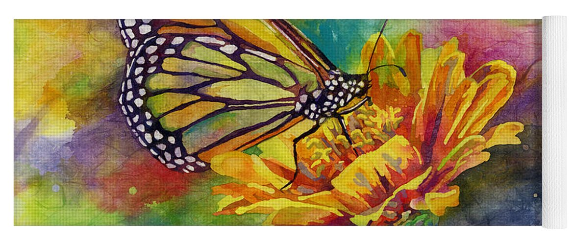 Butterfly Yoga Mat featuring the painting Butterfly Kiss by Hailey E Herrera