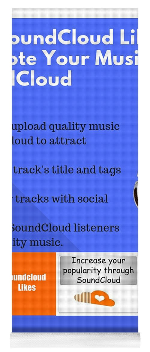 Buy Soundcloud Likes To Promote Your Music On Soundcloud Yoga Mat