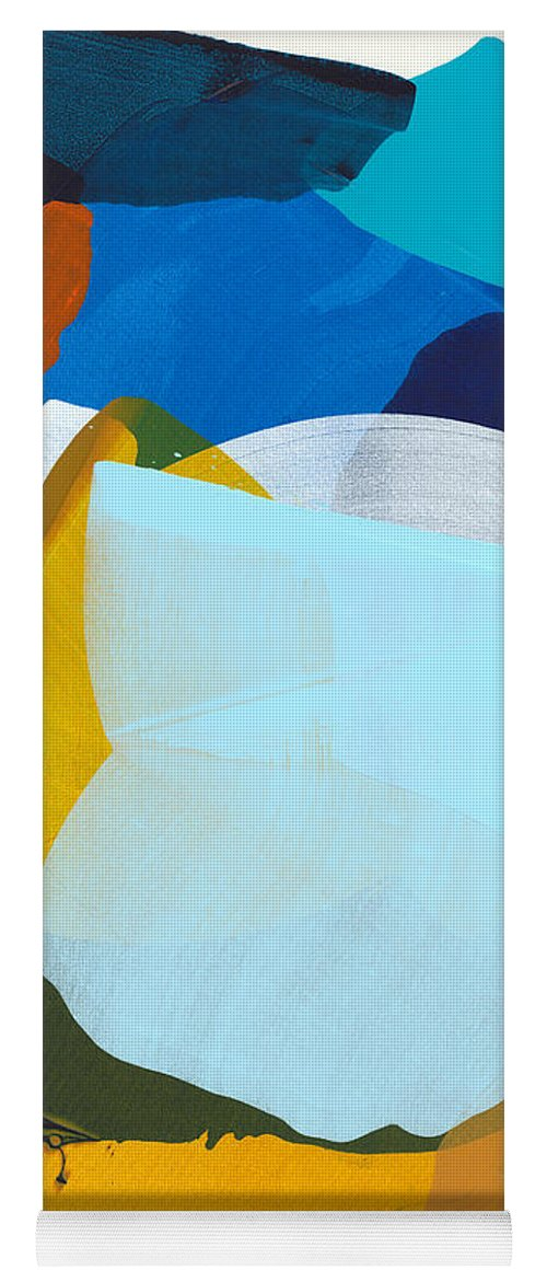 Abstract Yoga Mat featuring the painting California 05 by Claire Desjardins