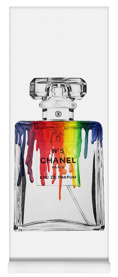 Bottle Yoga Mat featuring the painting Chanel by Mark Ashkenazi