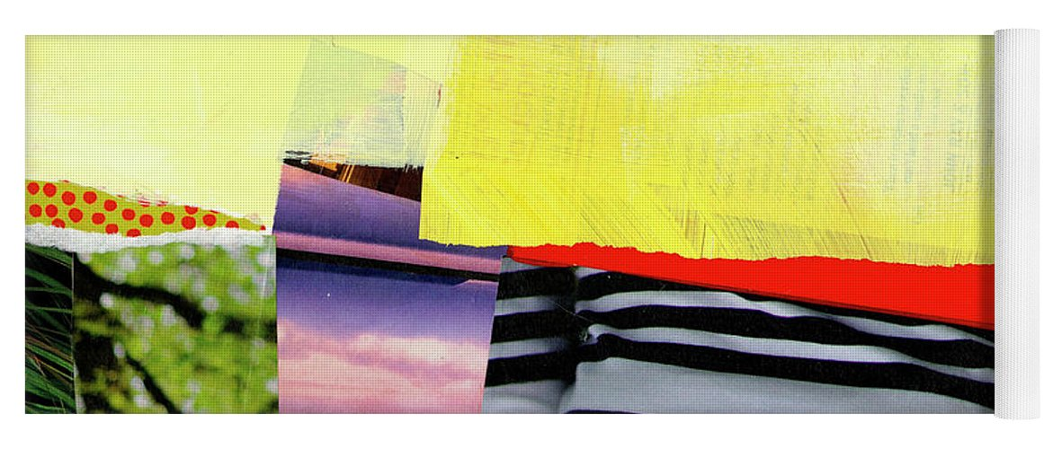 Abstract Art Yoga Mat featuring the painting Checkered Past by Jane Davies