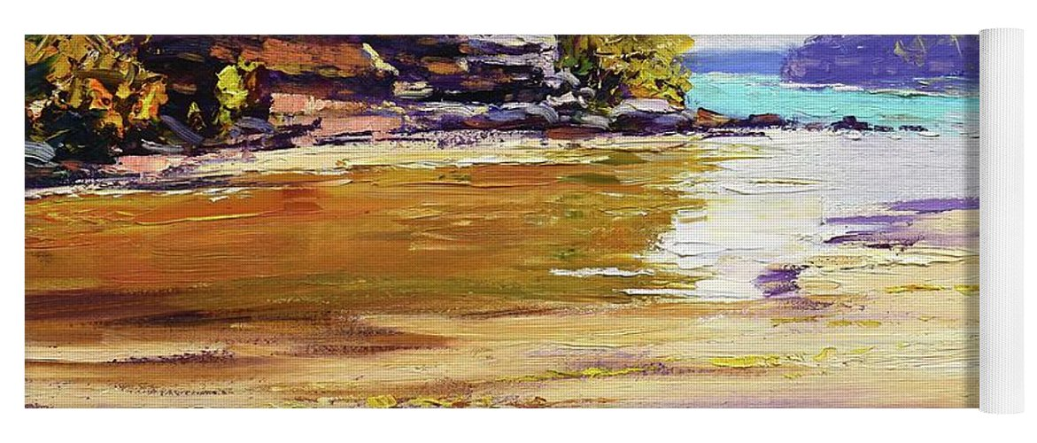 Beach Paintings Yoga Mat featuring the painting Collins Beach Sydney by Graham Gercken
