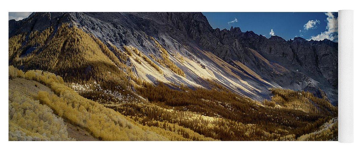 Colorado Yoga Mat featuring the photograph Colorado Mountains by Jon Glaser