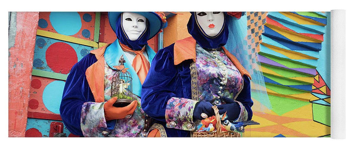 Carnival Yoga Mat featuring the photograph Colors Of Carnival by Linda D Lester