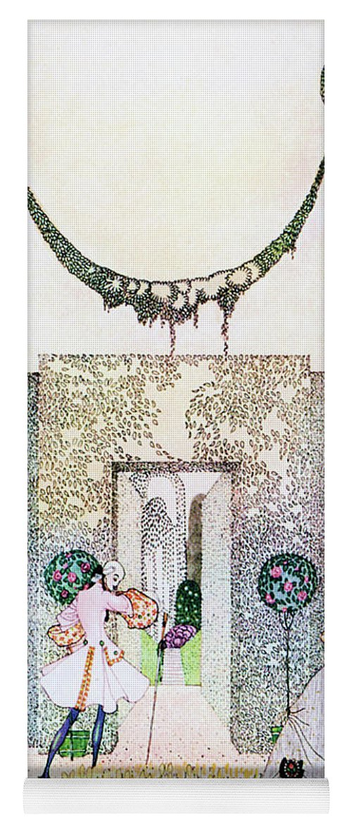 Princess Yoga Mat featuring the painting Cupid With Prince Mirrawlow And Court Ladies Who Are Playing In The Garden by Kay Nielsen