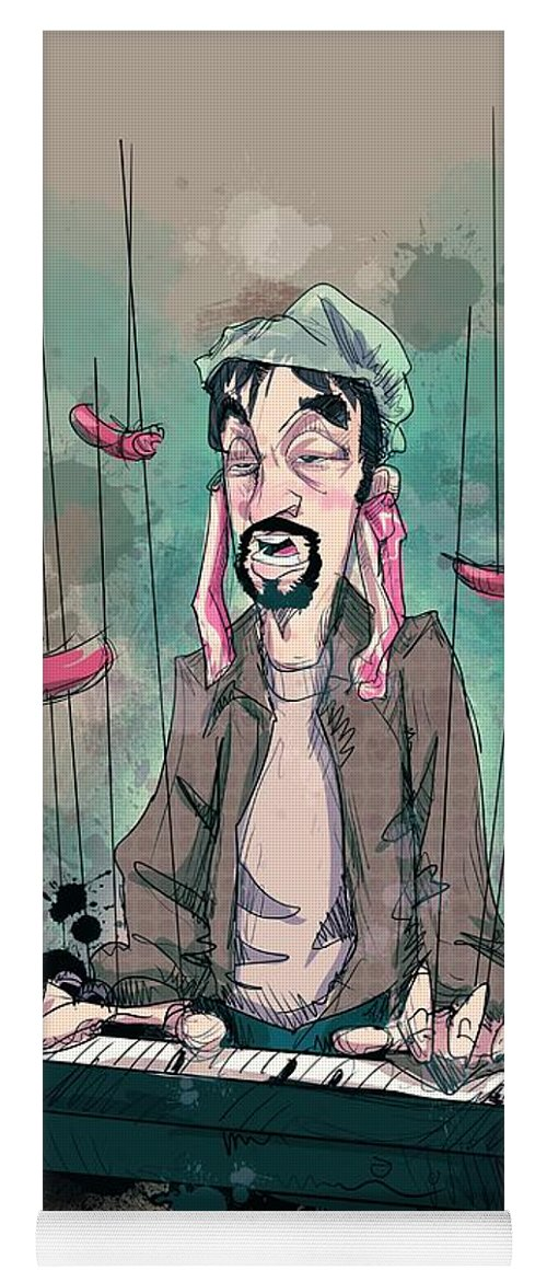 Tom Green Yoga Mat featuring the drawing Daddy Would You Like Some Sausage by Ludwig Van Bacon