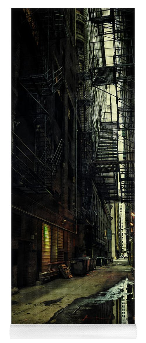 Alley Yoga Mat featuring the photograph Whispering City by Bruno Passigatti