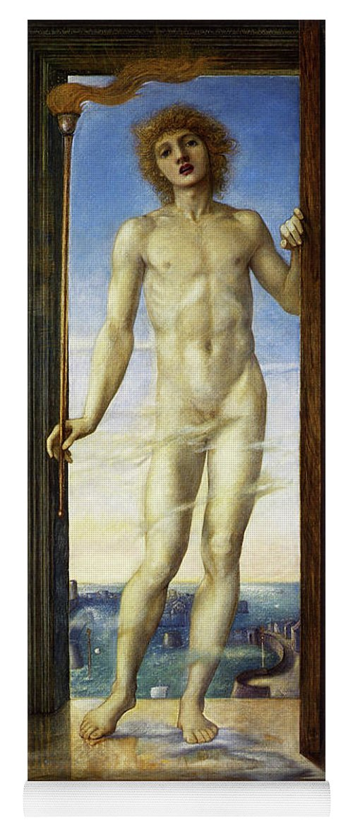Day Yoga Mat featuring the painting Day - Digital Remastered Edition by Edward Burne-Jones