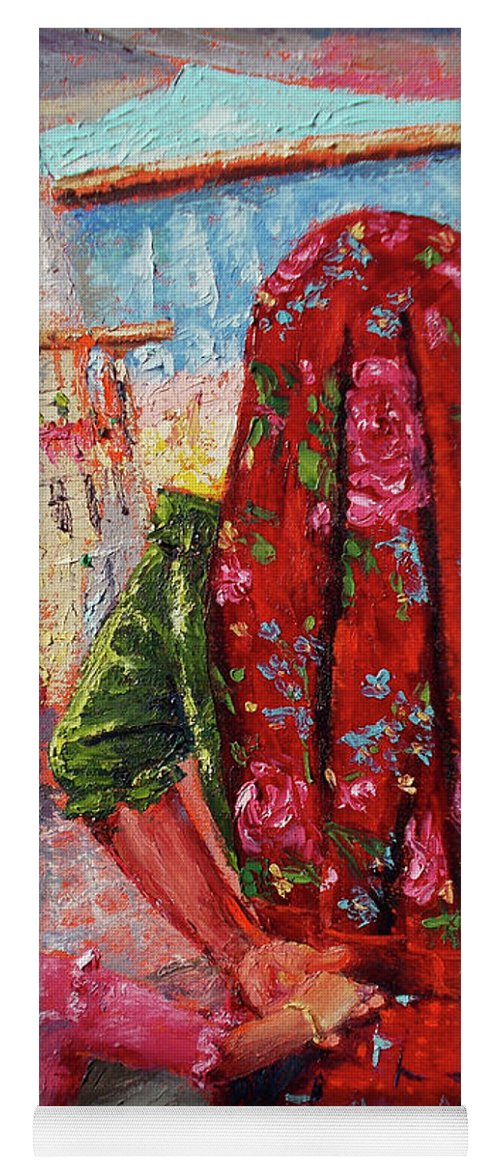 Mexico Yoga Mat featuring the painting De La Mano by Lilibeth Andre