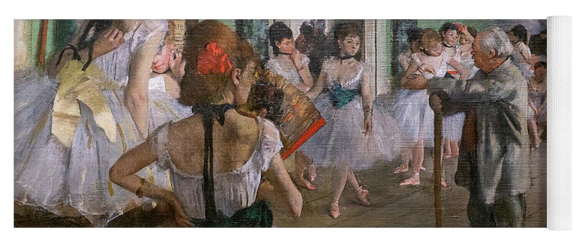 Dance Yoga Mat featuring the painting Degas, The Dance Class Detail by Edgar Degas