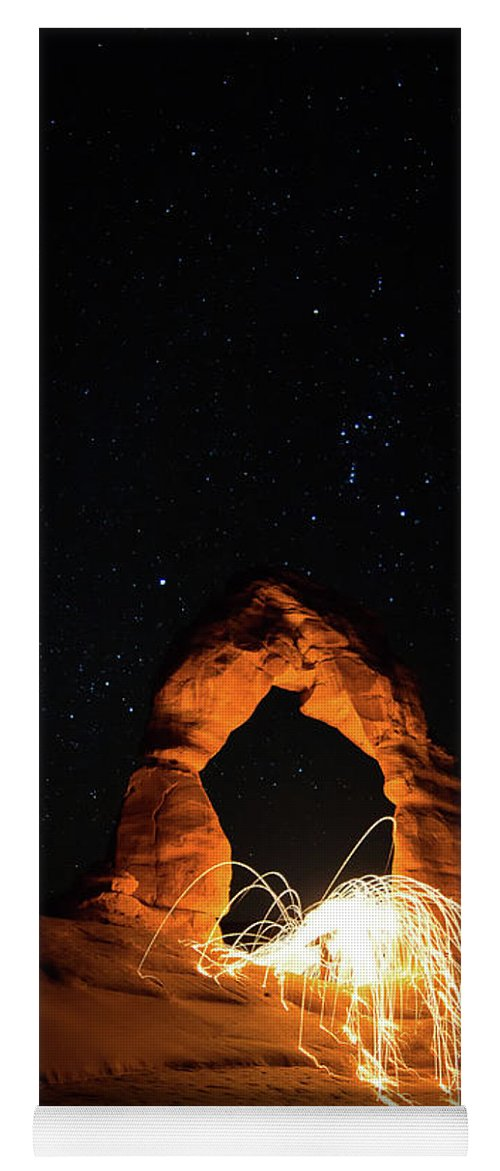 Delicate Arch Yoga Mat featuring the photograph Delicate Arch Steel Wool by Nathan Bush