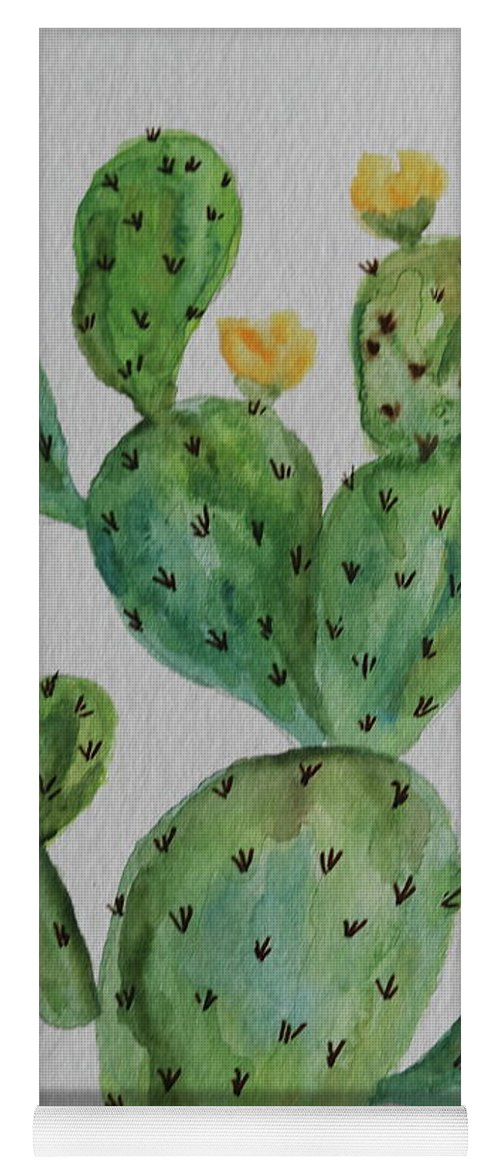 Cactus Yoga Mat featuring the painting Desert Garden Beauty by Christiane Schulze Art And Photography