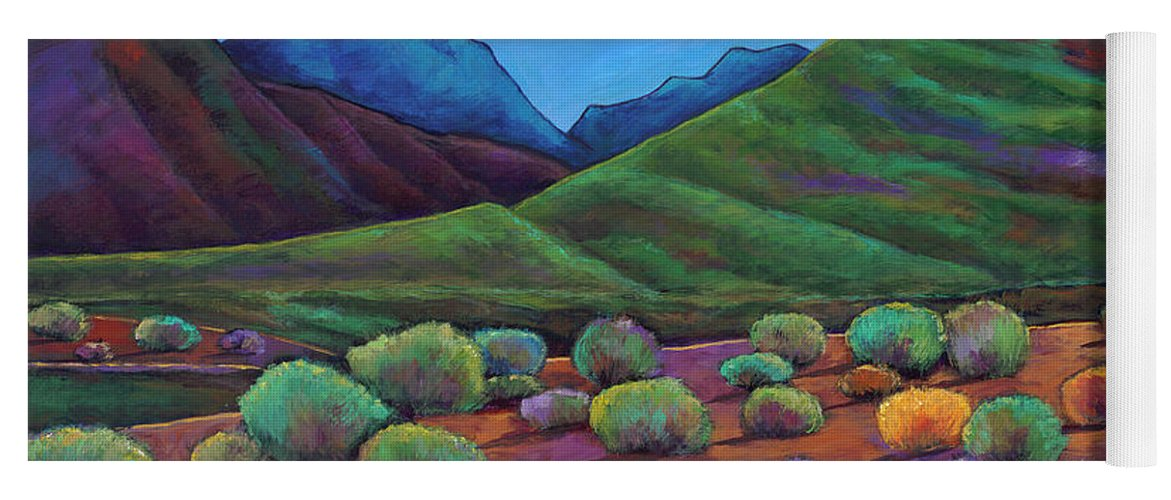 Arizona Yoga Mat featuring the painting Desert Valley by Johnathan Harris
